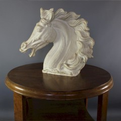 Impressive horse head sculpture