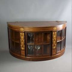 Art Nouveau craftsman made inlaid mahogany display cabinet