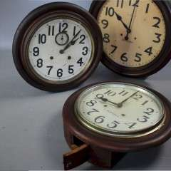 Three Japanese wall clocks by Seikosha 1920