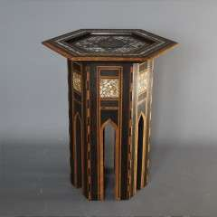 Mother of pearl Moorish table, Liberty & Co.