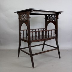 Oak occasional table in the Moorish style probably by Liberty & Co