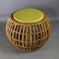 Mid-Century wicker Lobster stool