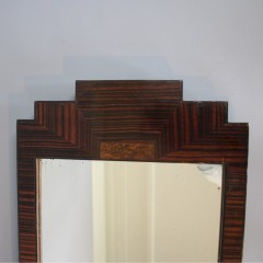 Art Deco wall mirror Macassar veneer