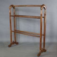 Antique mahogany towel rail.