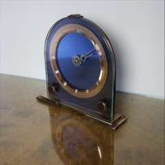Art Deco mirrored clock