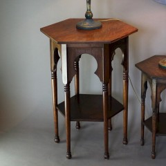 Moorish oak arts and crafts occasional table for Liberty & Co