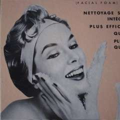 French 50's advert for Mousse Faciale