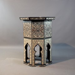 Moorish octagonal  Majlis inlaid table