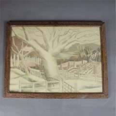 Original 1940's print of tree by Paul Nash
