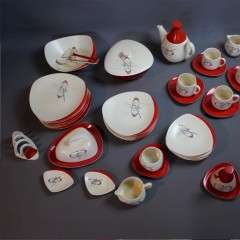 Carlton Ware 1950's tableware Orbit pattern