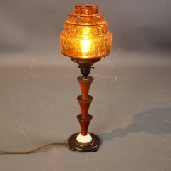 Stunning art deco Phenolic stepped table lamp.