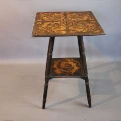 Arts and crafts pokerwork occasional table