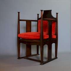 William Birch arts and crafts chair by E.G Punnett
