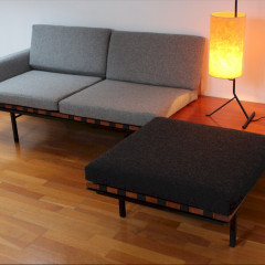 Modular Form group seating and coffee table designed by Robin Day for Hille 1960
