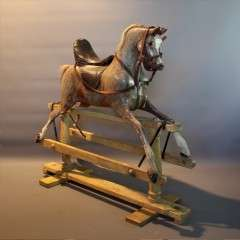 Lines Bros antique rocking horse.