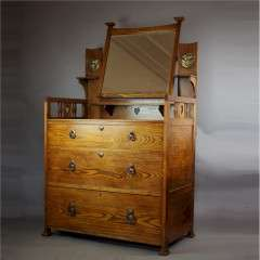 Shapland and Petter arts and crafts dressing chest c1900