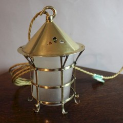 Arts and Crafts brass lantern