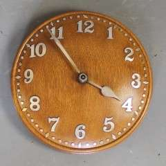 1930's Zenith for Heals oak domed wall clock.