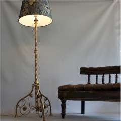 Victorian Aesthetic Movement brass floor lamp