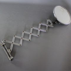 Art Deco extending chrome shaving mirror Walligraph