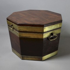 Georgian octagonal mahogany wine cooler cellarette