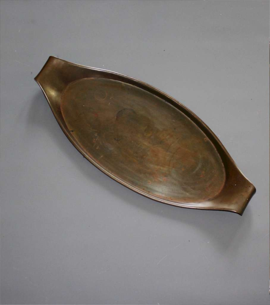 Arts and Crafts copper tray by Benson.
