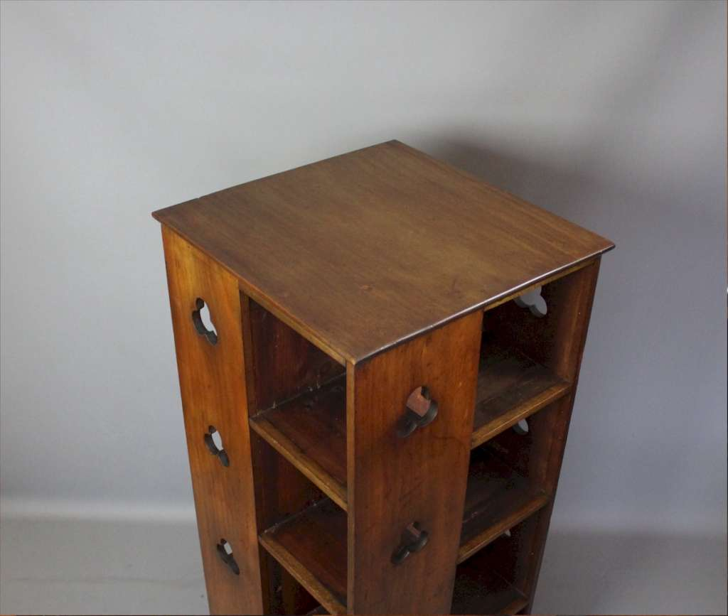 Arts and Crafts revolving bookcase