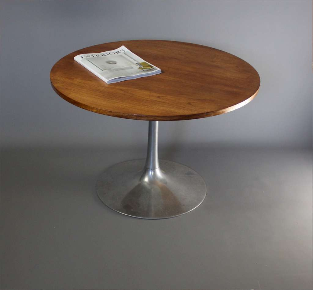 Mid Century Teak circular table on tulip base