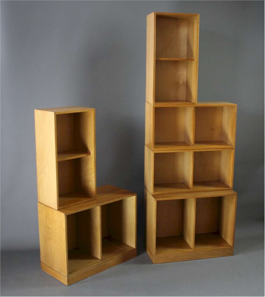 Unix Sectional Oak Bookcase by Phoenix Gallery