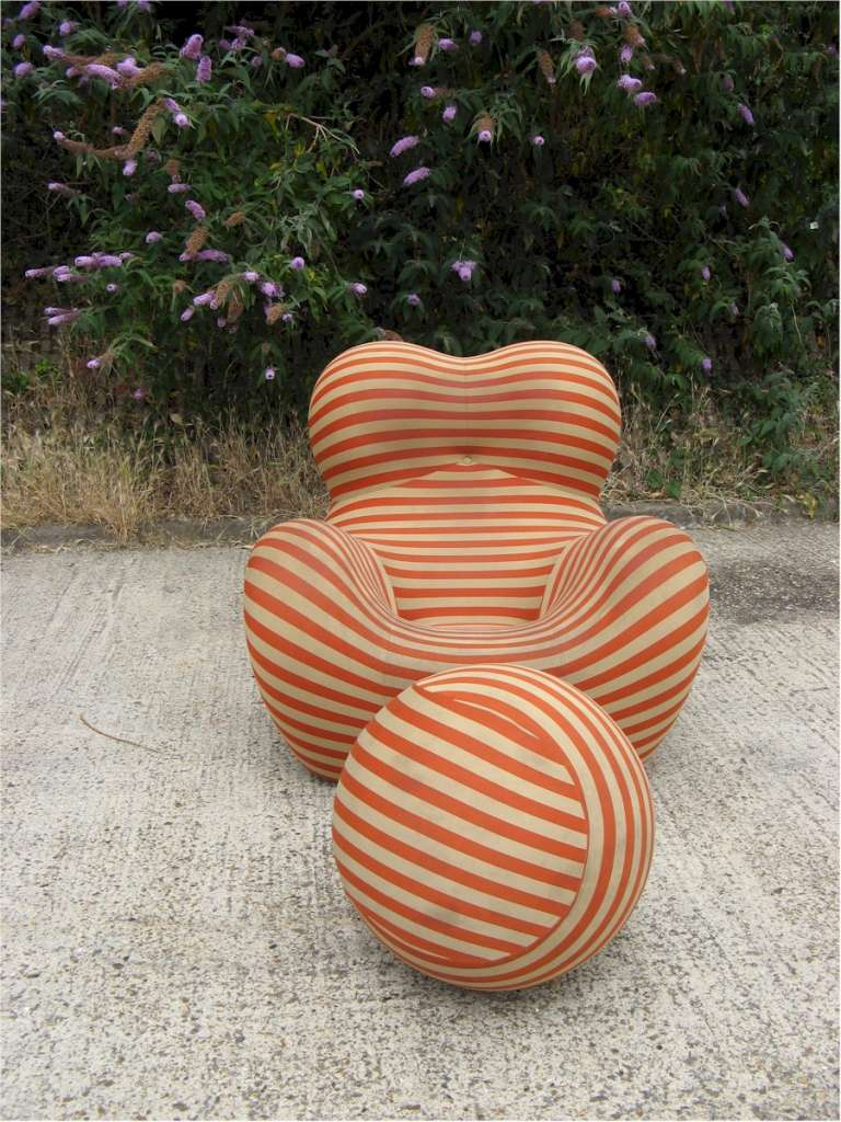 Gaetano Pesce Up chair and ottoman for B+B Italia