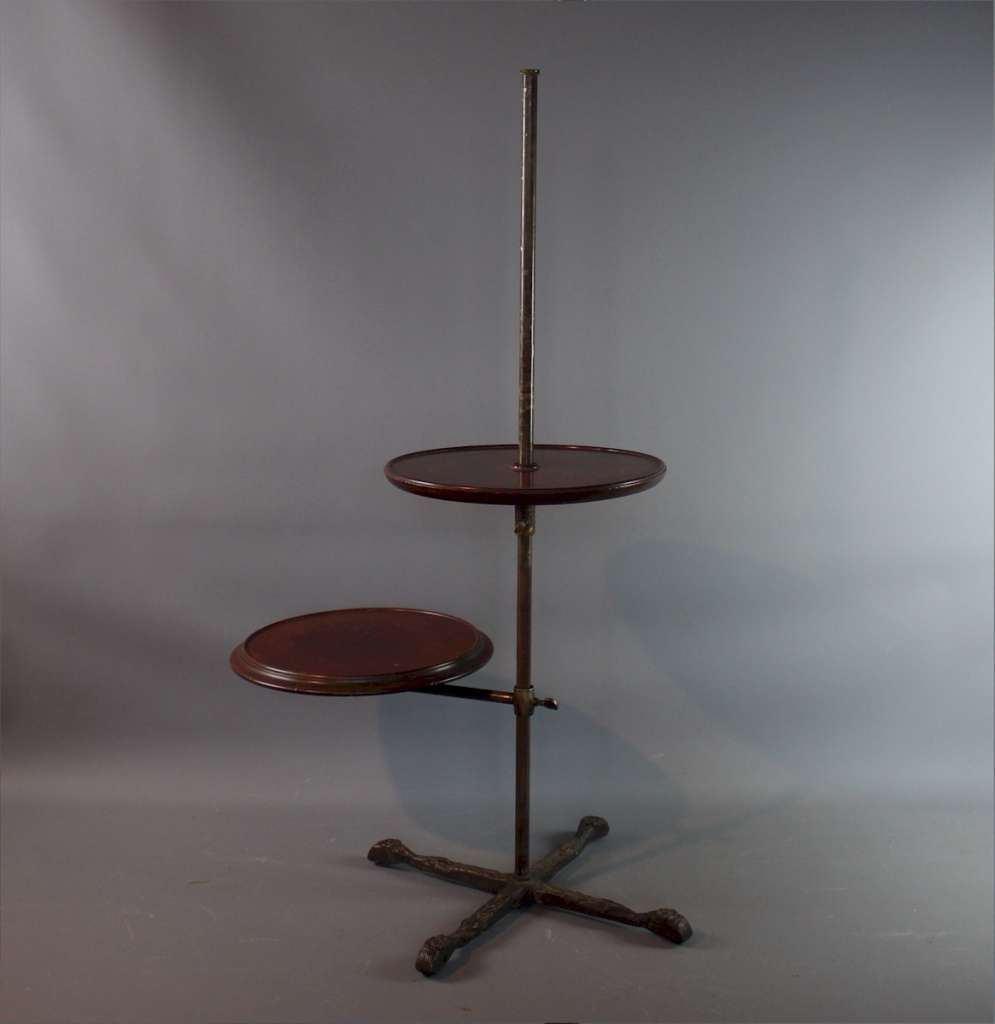 Victorian mahogany and brass shop display stand