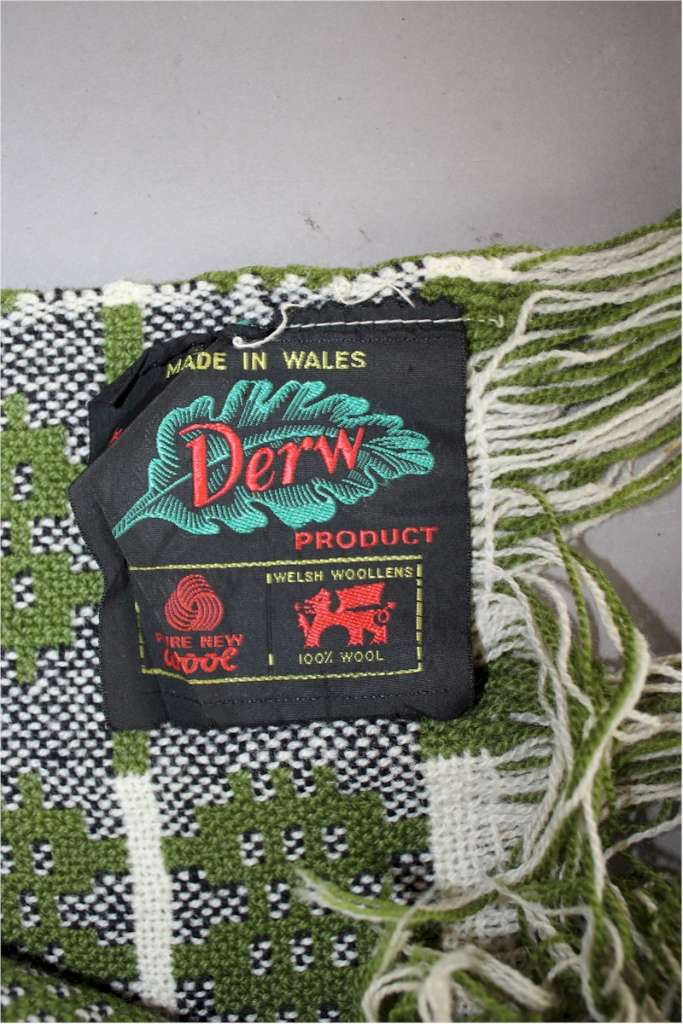 Vintage Welsh blanket by Derw