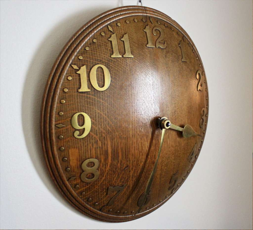 Zenith domed oak wall clock