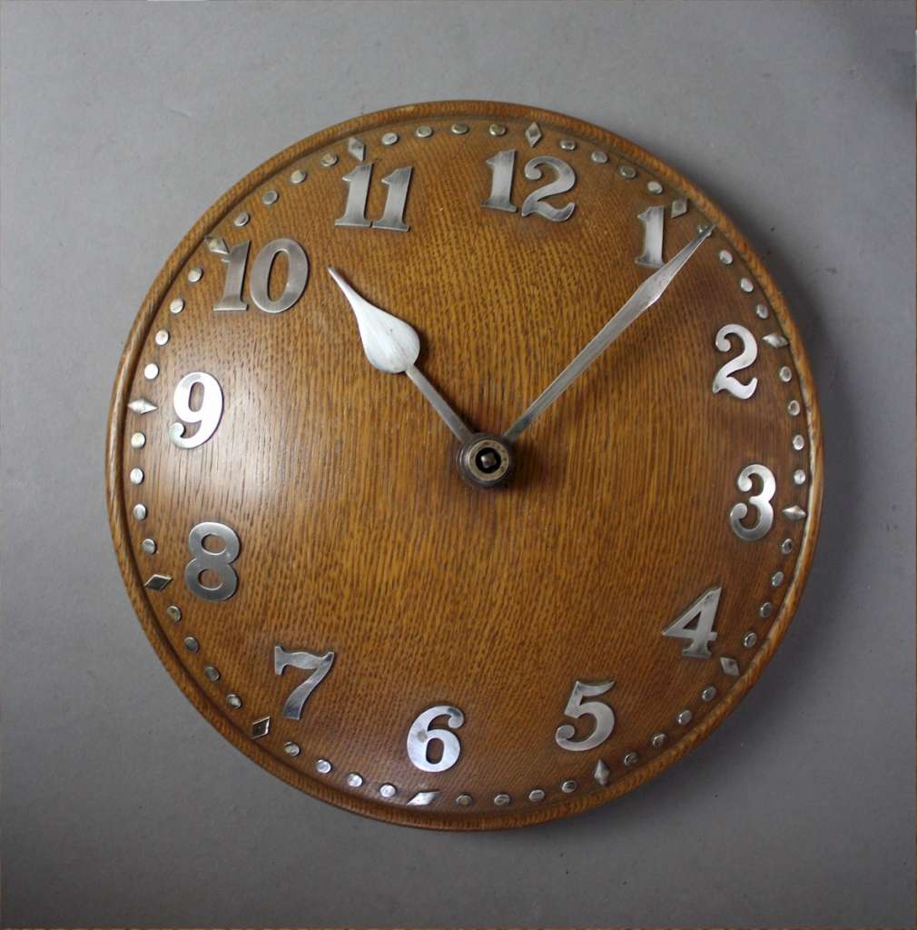 Zenith domed oak wall clock retailed through Heals c1930's